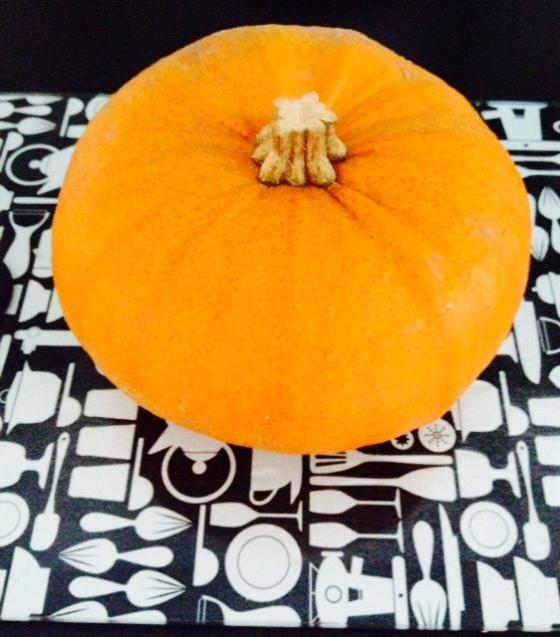 The pumpkin BEFORE