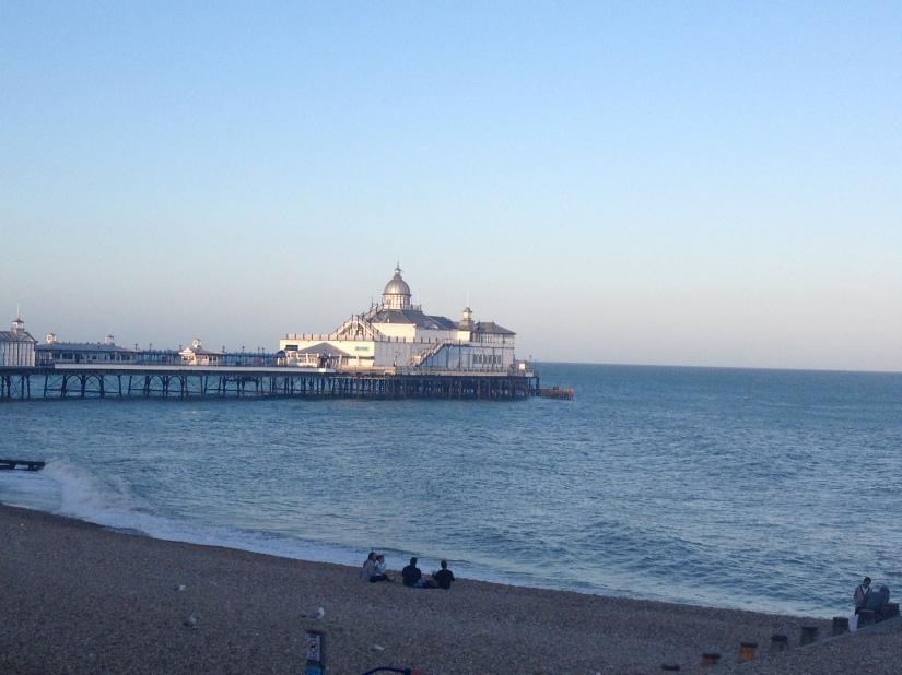 Sun setting on the pier