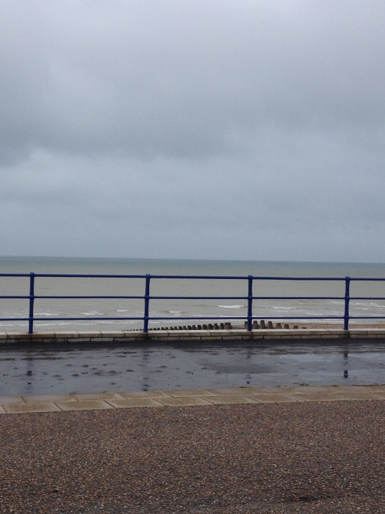 We still braved the seafront even though it was grey, rainy and cold!