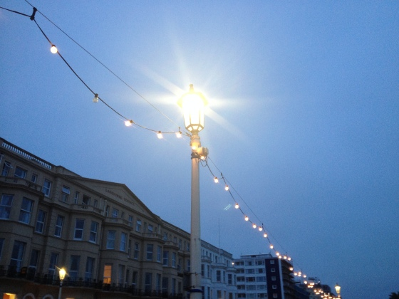 Lovely to catch the fairy lights switching along the seafront