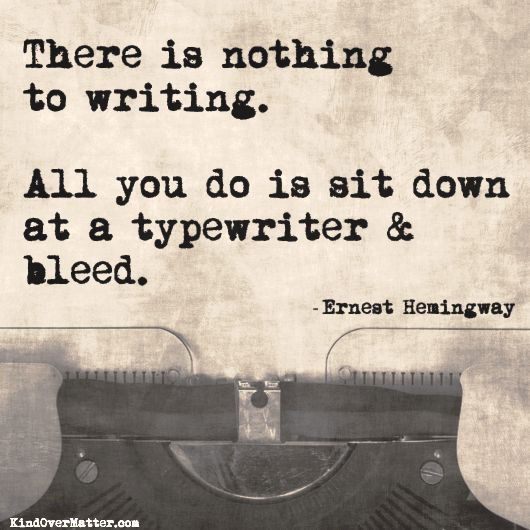 On Living a Writer's Life